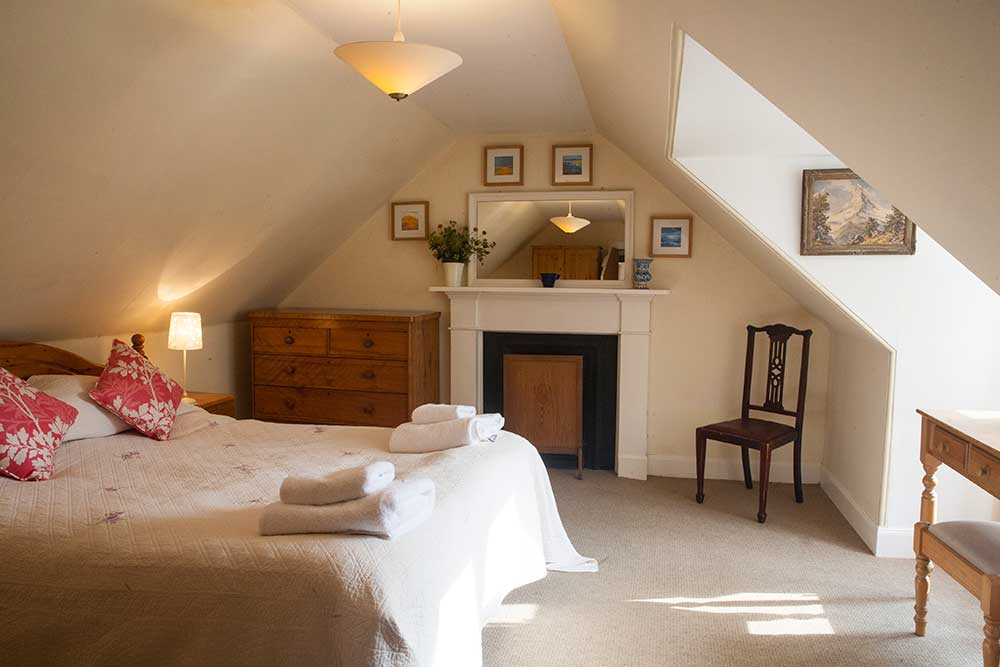 Double bedroom has a kingsize bed and wonderful view of the loch