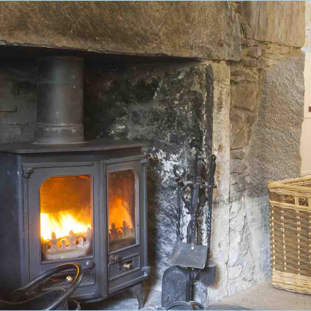 Enjoy the cosy log fire